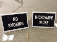 Plastic Signs- Engraved or Vinyl Lettered